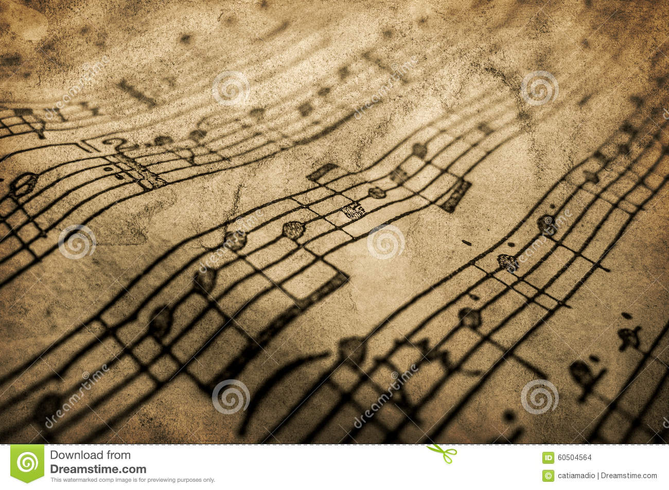 Grunge musical texture stock photo. Image of note. notes - 60504564