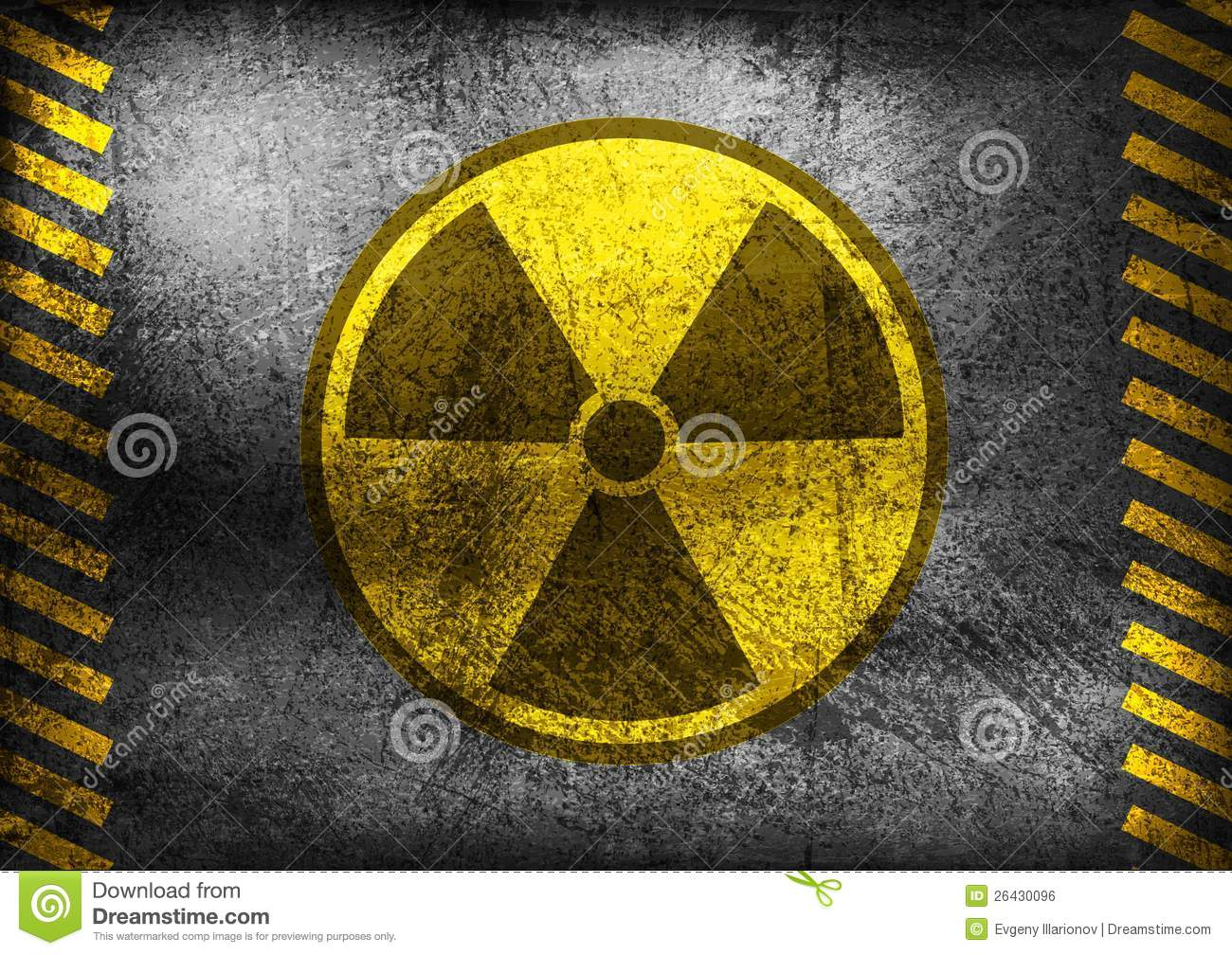 3d Wallpaper Yellow Grunge Nuclear Radiation Symbol Royalty Free Stock Image