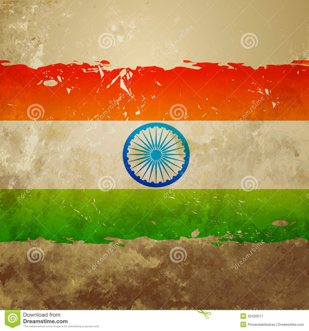 Ashok Chakra 3d Wallpaper Grunge Style Indian Flag Royalty Free Stock Photography