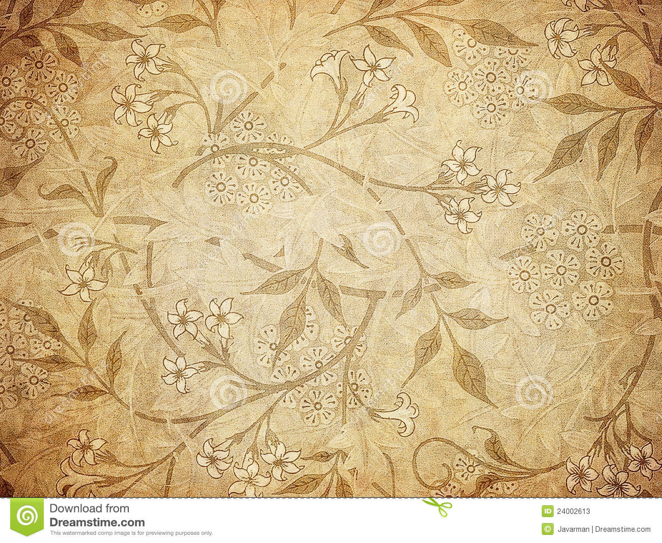 Antique Flower Wallpaper