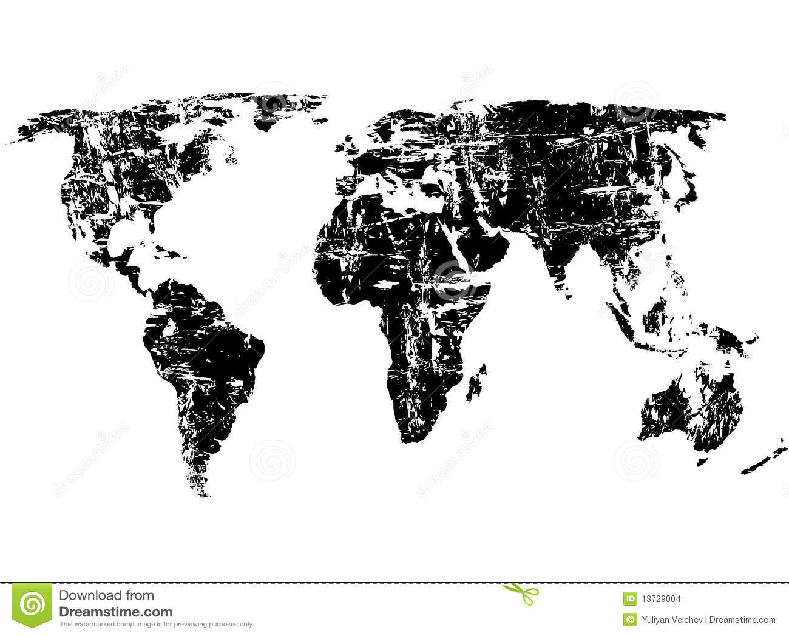 Grunge World Map Stock Vector Illustration Of Draft