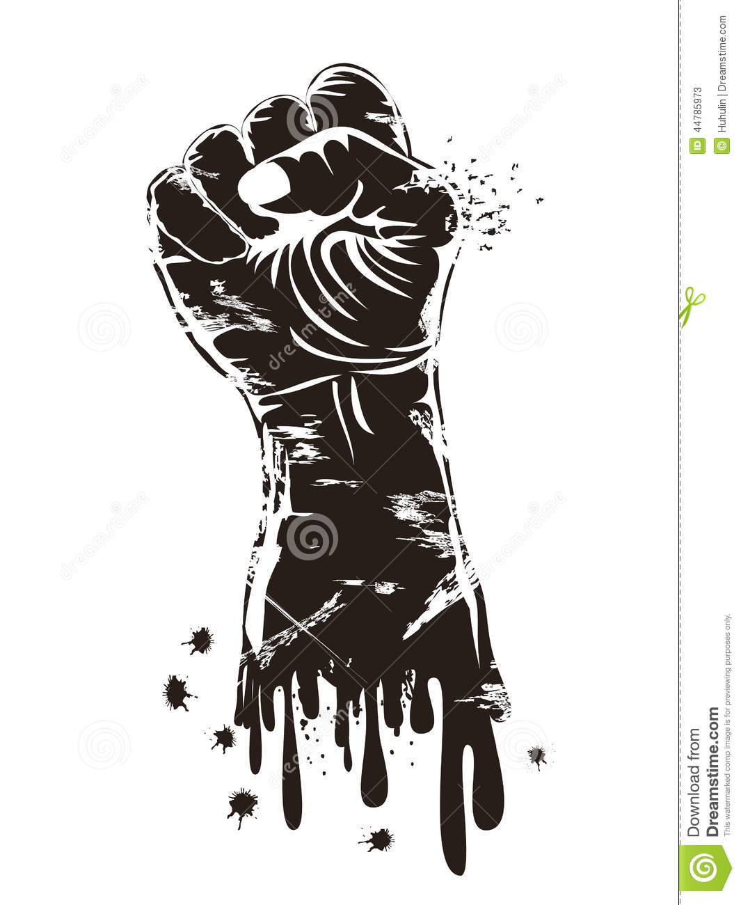 Grungy Fist Power Stock Vector Illustration Of Poster