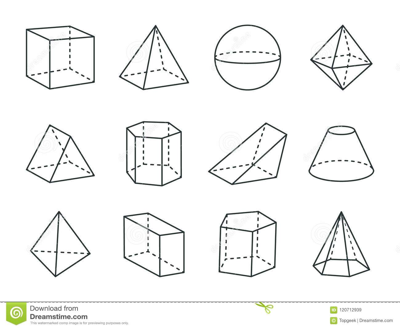 Grupo Geometrico De Prisma Figuras Variadas Tiragem Dos