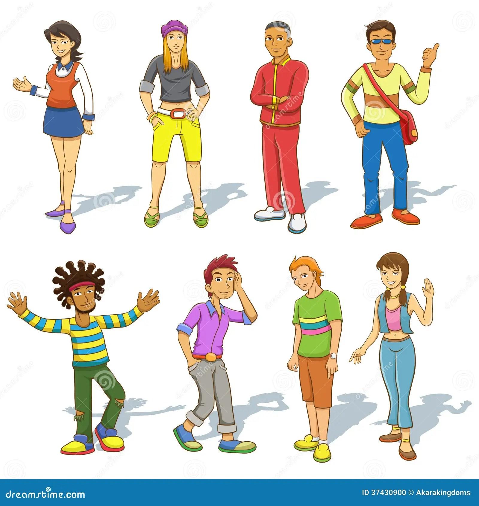 Gruppo Di Persone Il Fumetto Illustrazione Vettoriale