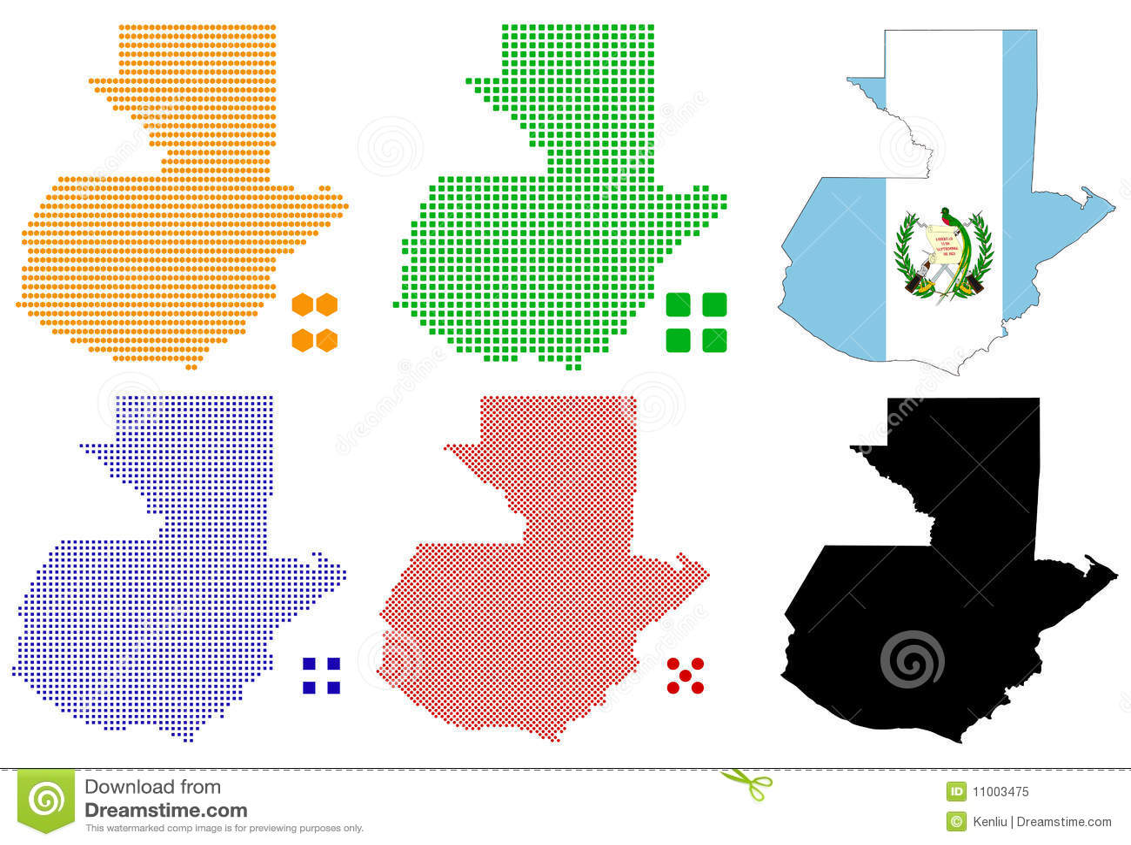 Guatemala Stock Vector Illustration Of Geography