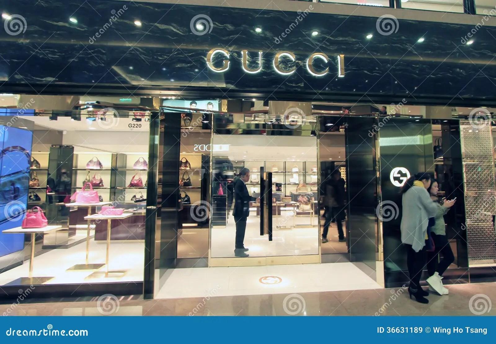 Gucci shop in Hong Kong editorial stock image. Image of city - 36631189
