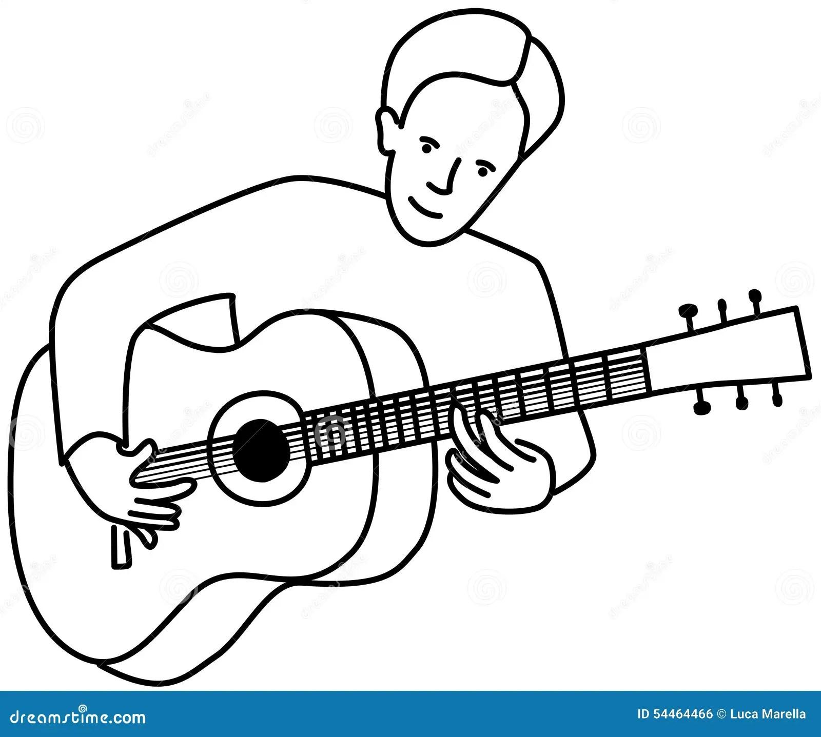 Guitarist Stock Vector Illustration Of Guitarist Drawing
