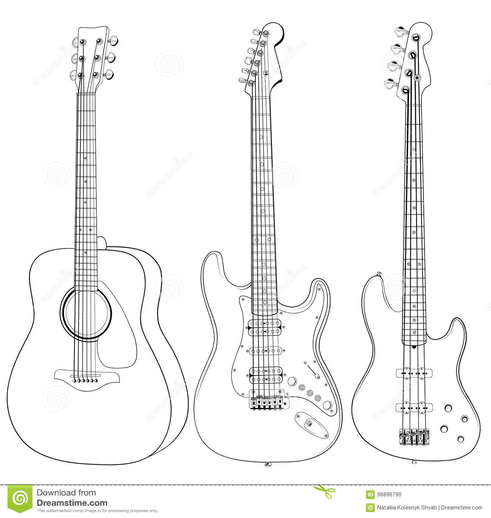 Guitars Stock Vector