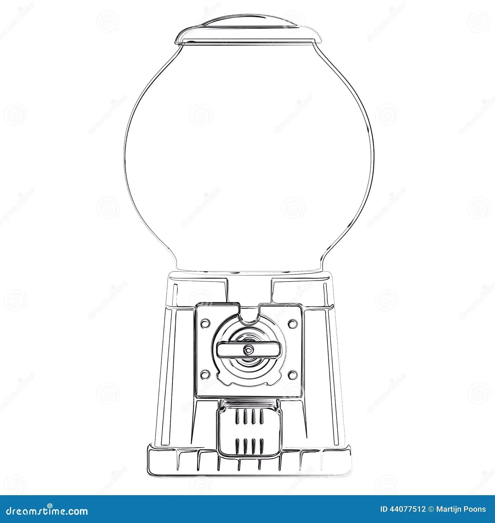 Gum Ball Vending Machine Stock Vector Illustration Of