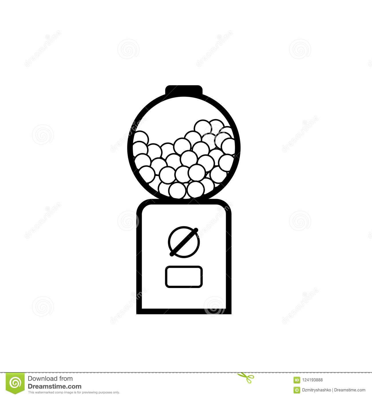 hight resolution of gumball machine outline icon vending clipart isolated on white background