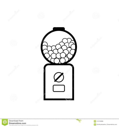 small resolution of gumball machine outline icon vending clipart isolated on white background