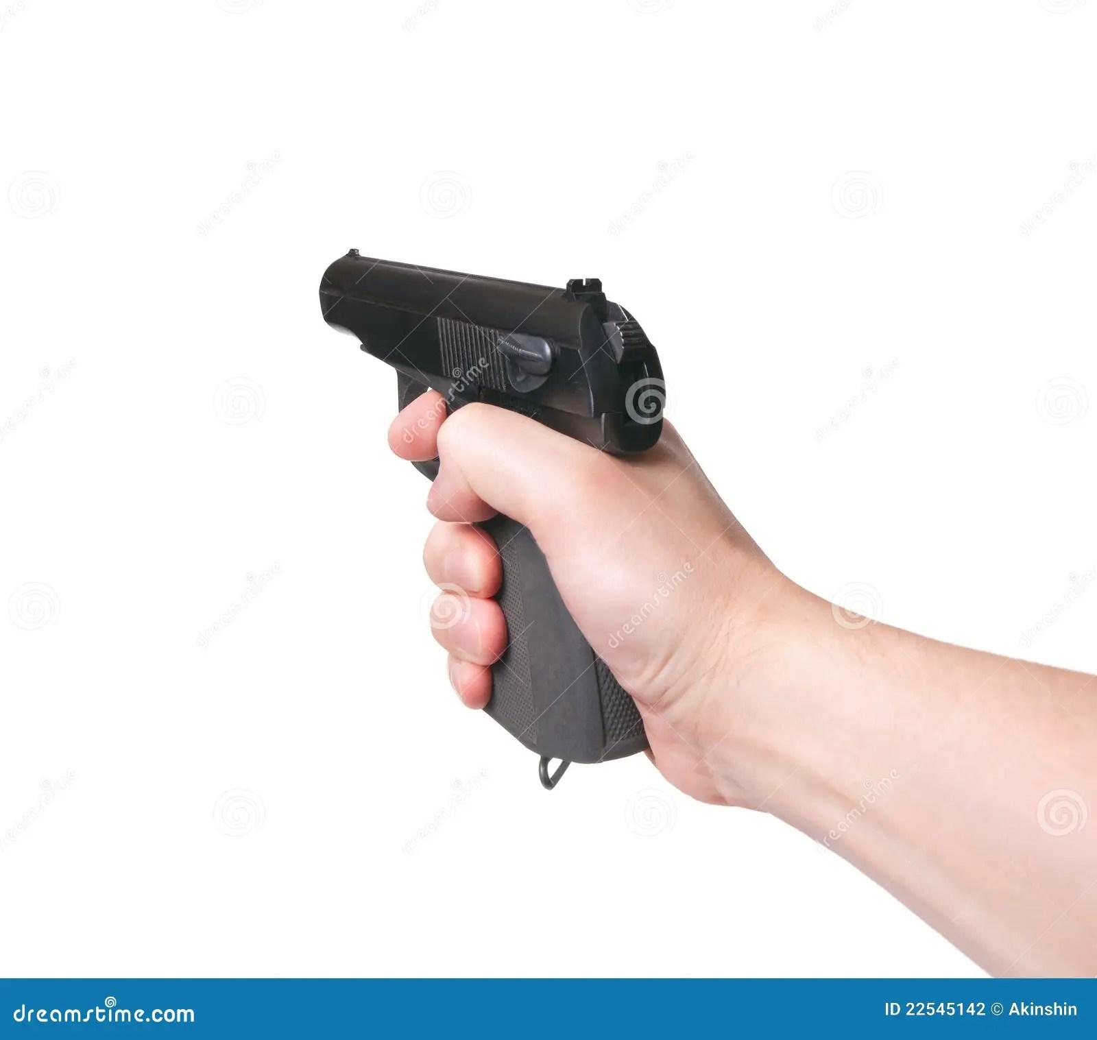 Gun In Hand Stock Photography  Image 22545142