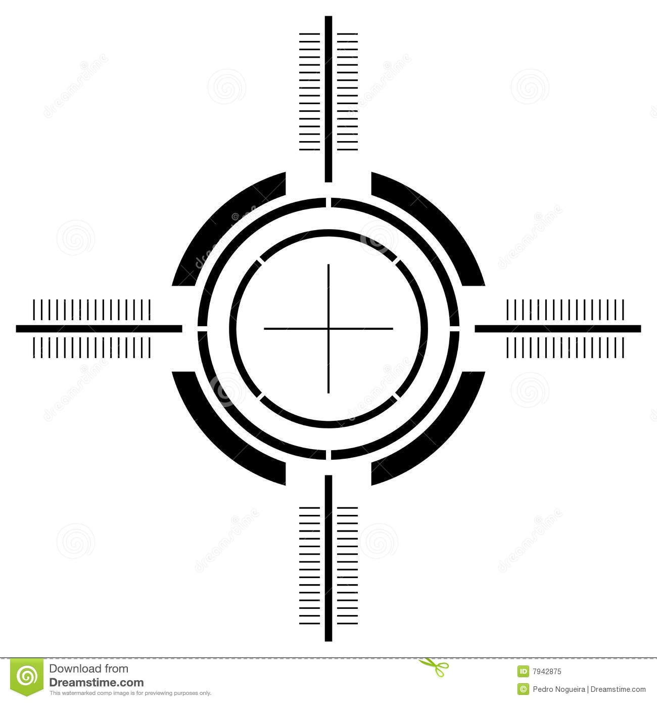 Sight Isolated On The White Royalty Free Stock Image