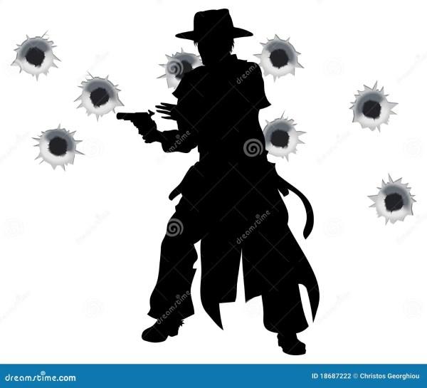 Gun Slinger Western Shoot- Stock Vector - 18687222