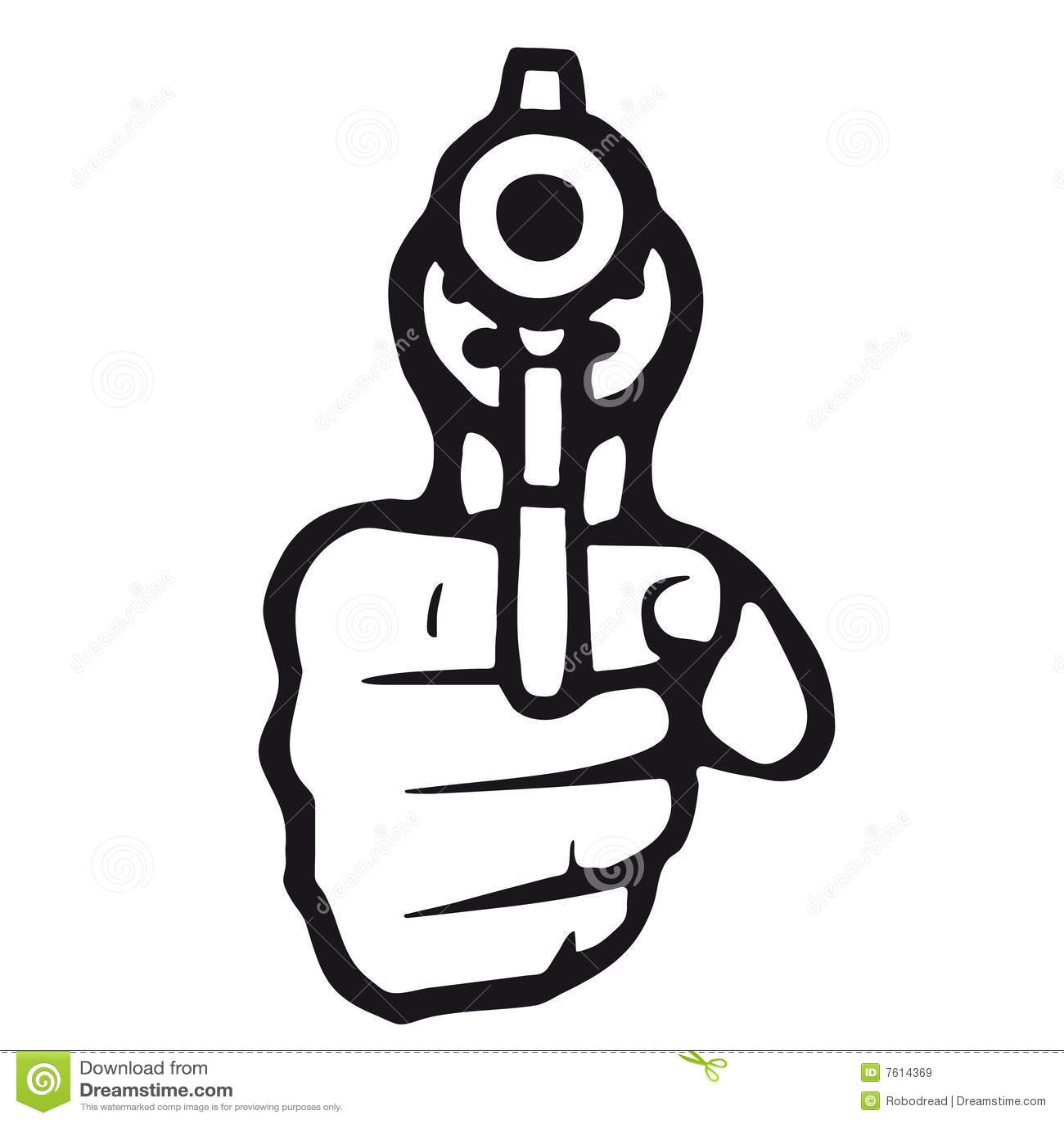 Gun Vector Stock Vector Illustration Of Agent Justice