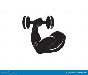Gym fitness Icon Logo Vector Illustration Stock Vector Illustration of biceps logotype: 148125395