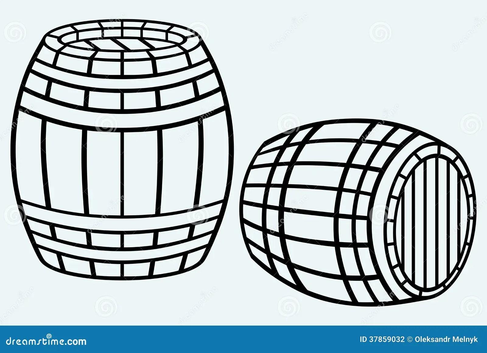 Hölzernes Fass vektor abbildung. Illustration von tonne