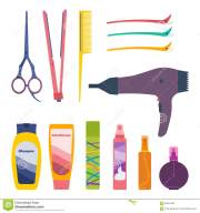 hair care set stock vector. illustration