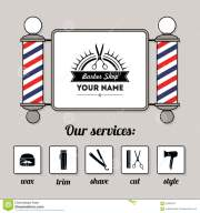 template hair salon vector