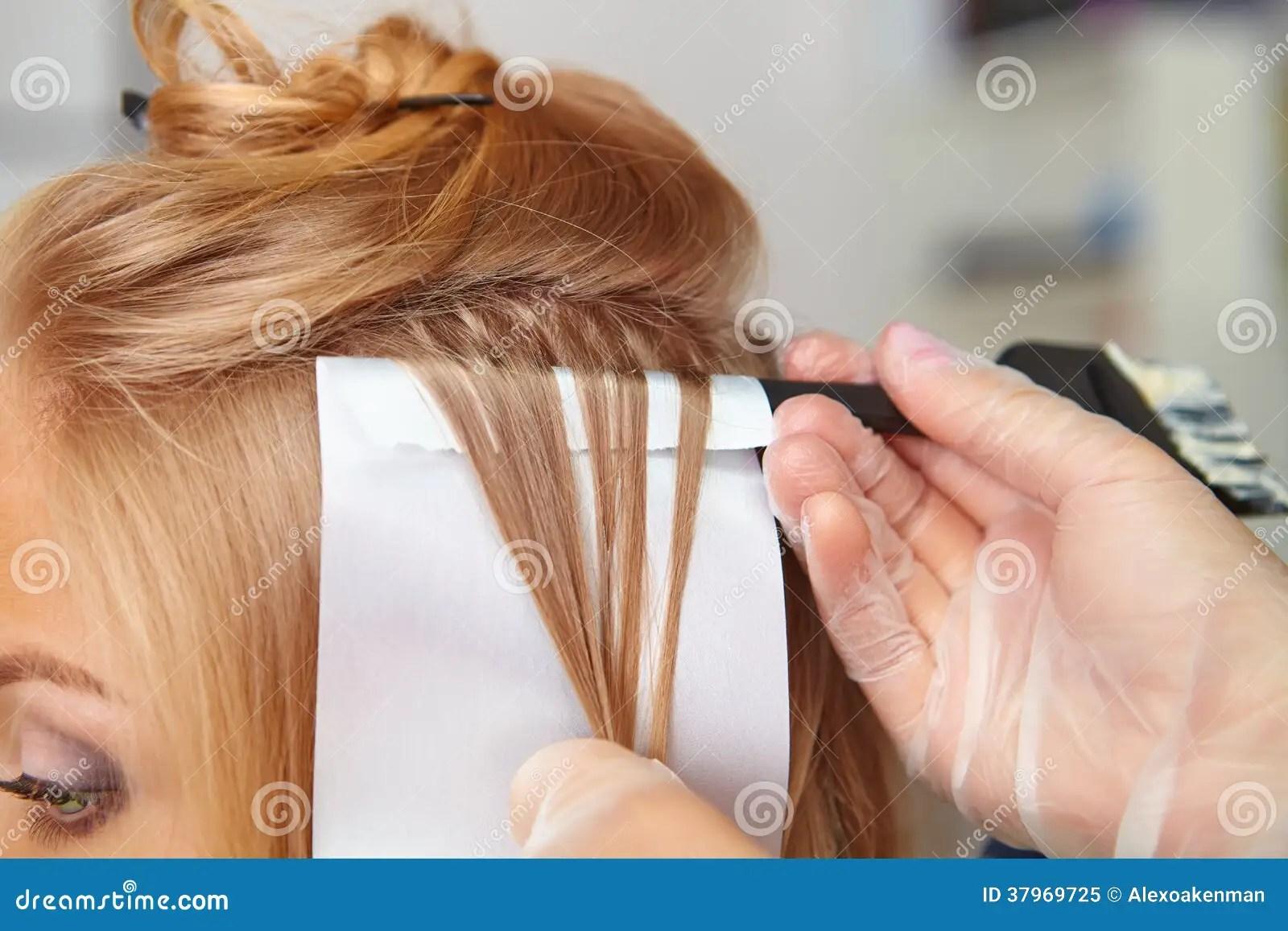 Hair Salon Coloring Royalty Free Stock Photo