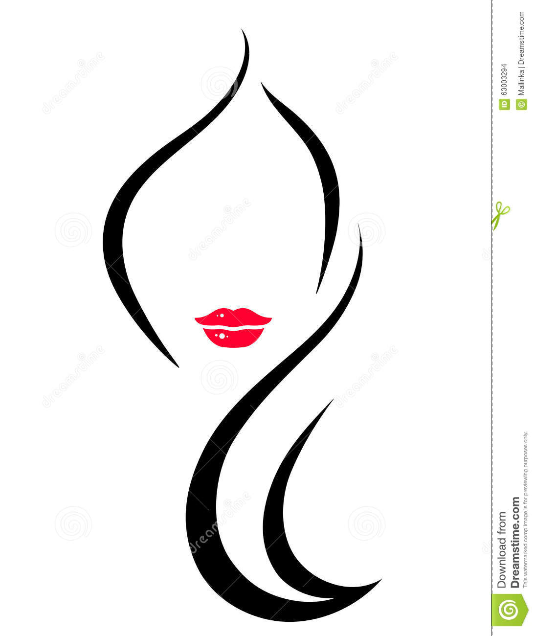 Hair Salon Icon With Woman Stock Vector Illustration Of