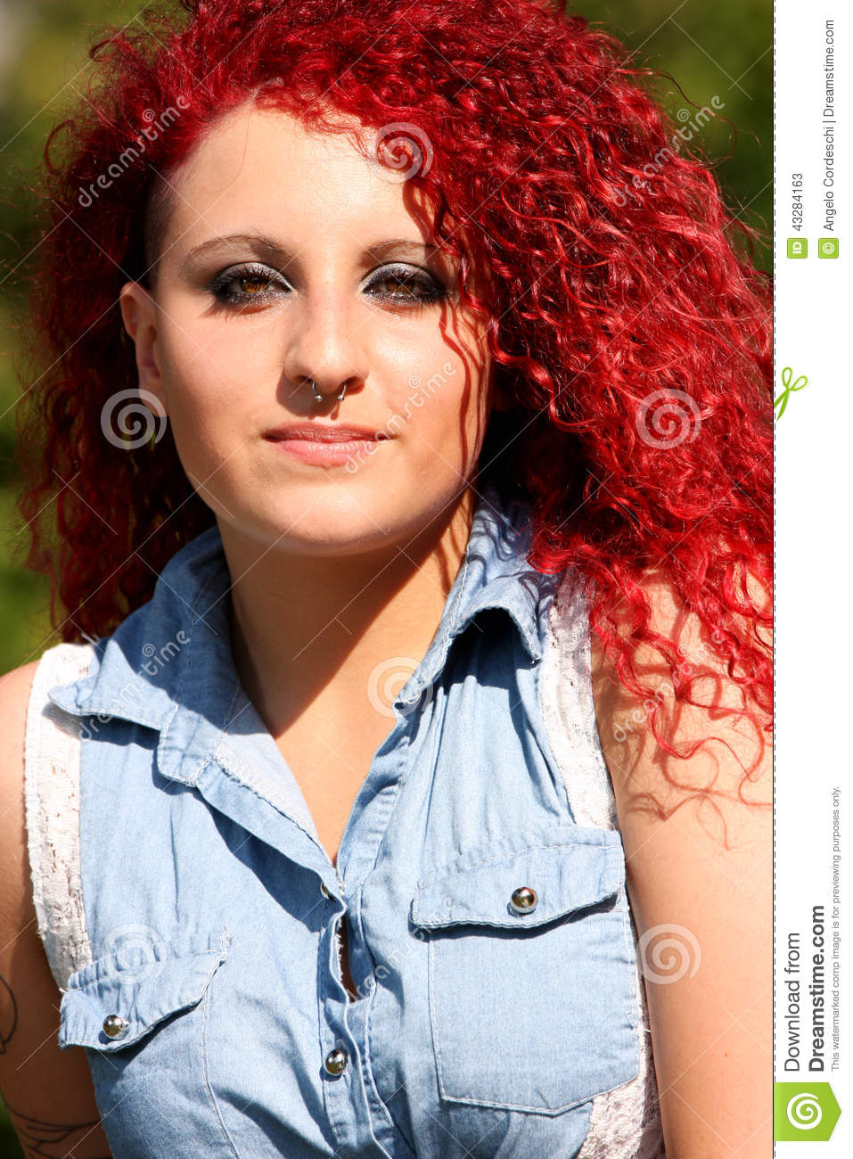 Hair Styled Girl Fashion Outdoor Stock Image Image 43284163