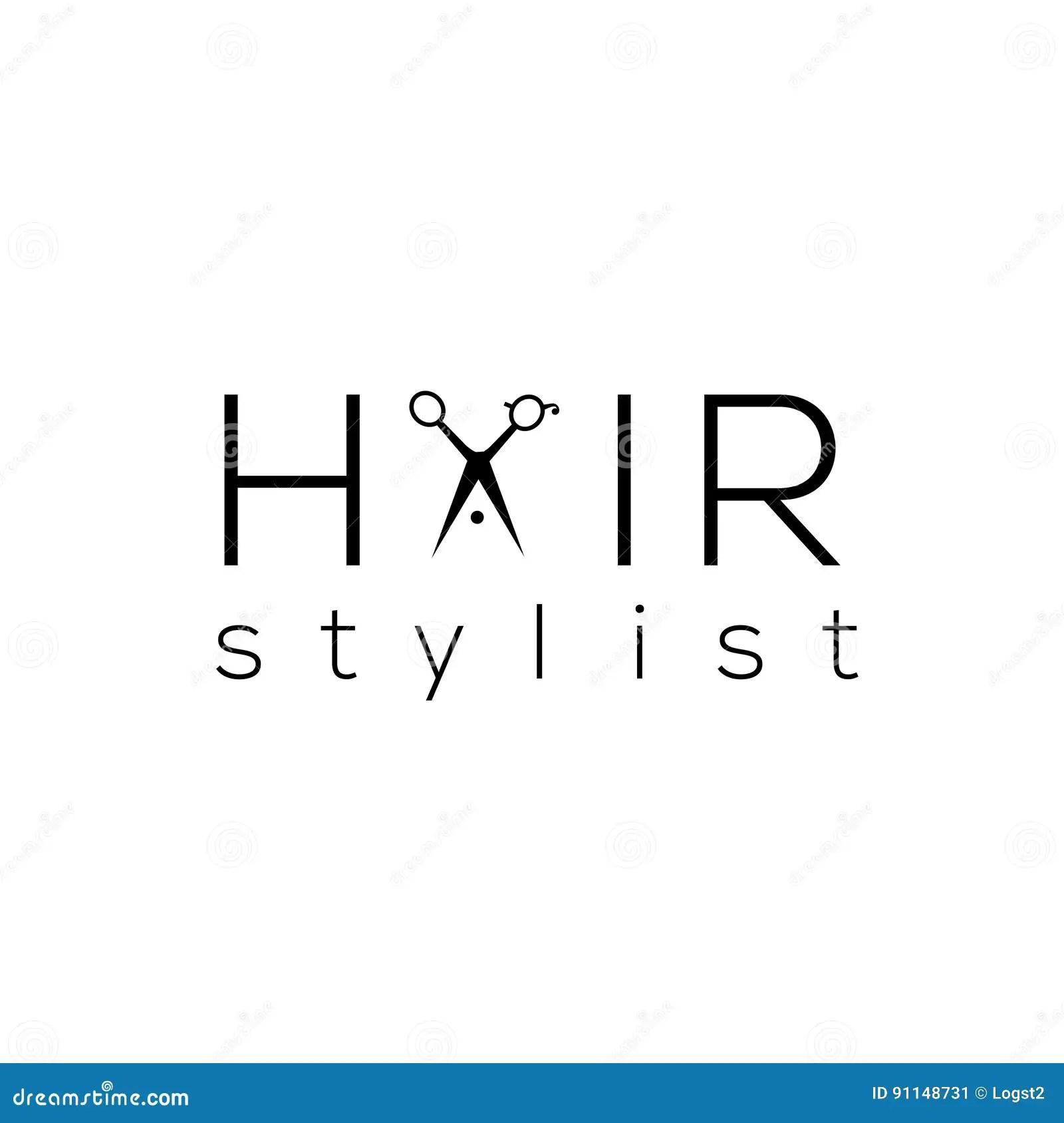 Hair Stylist Vector Logo. Hair Salon Emblem Stock Vector