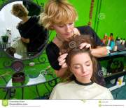 hair stylist work royalty free