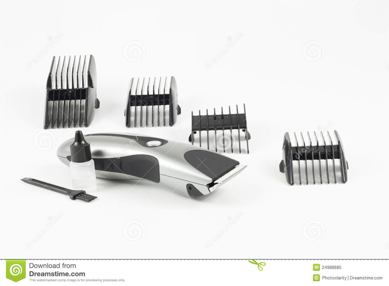 Haircut machine and clips stock image Image of care  24988685
