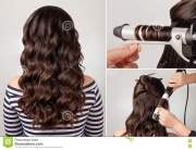 hairstyle curly hair tutorial stock