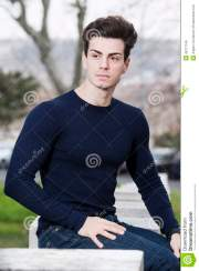 hairstyle cute young man - outdoor