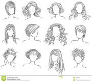 hairstyles stock vector. illustration