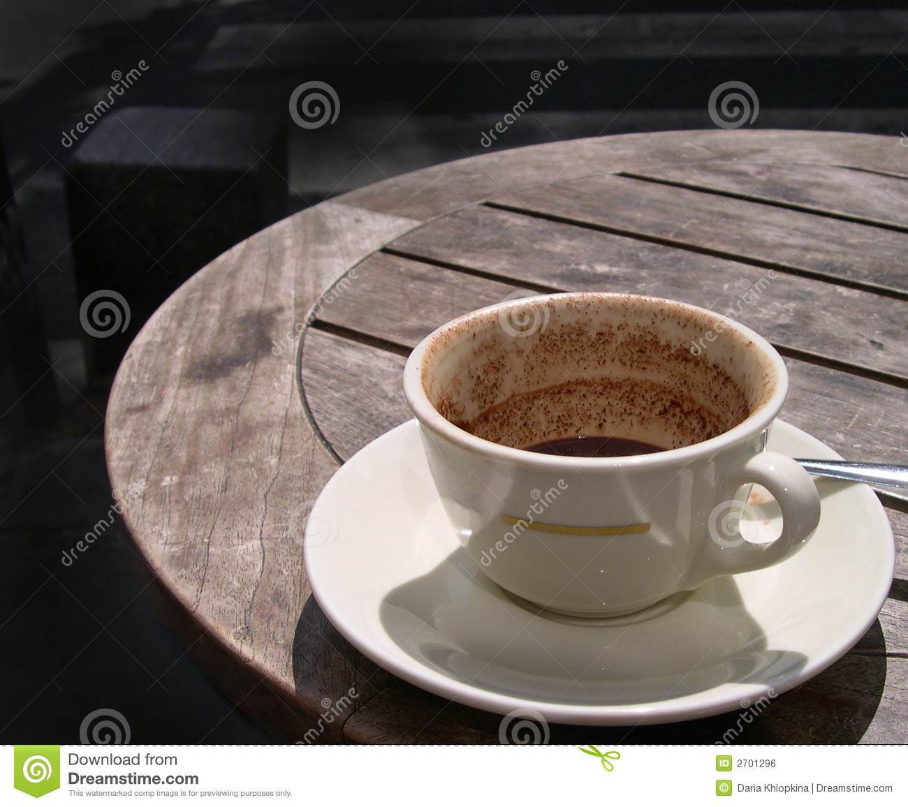 Coffee Table With Seats Half-empty Cup On A Cafe Table Stock Photo - Image: 2701296