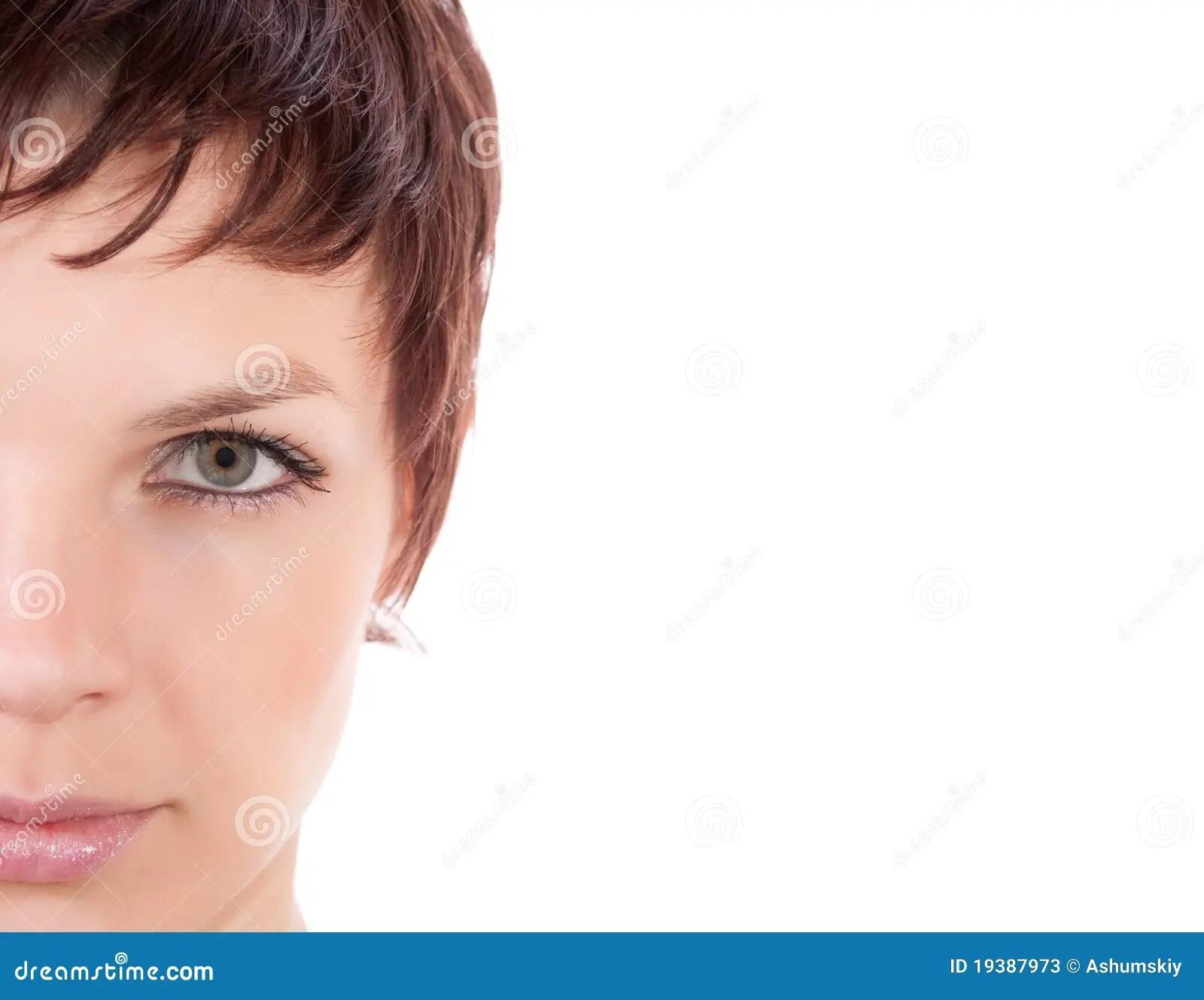 Half Face Portrait Stock Photos