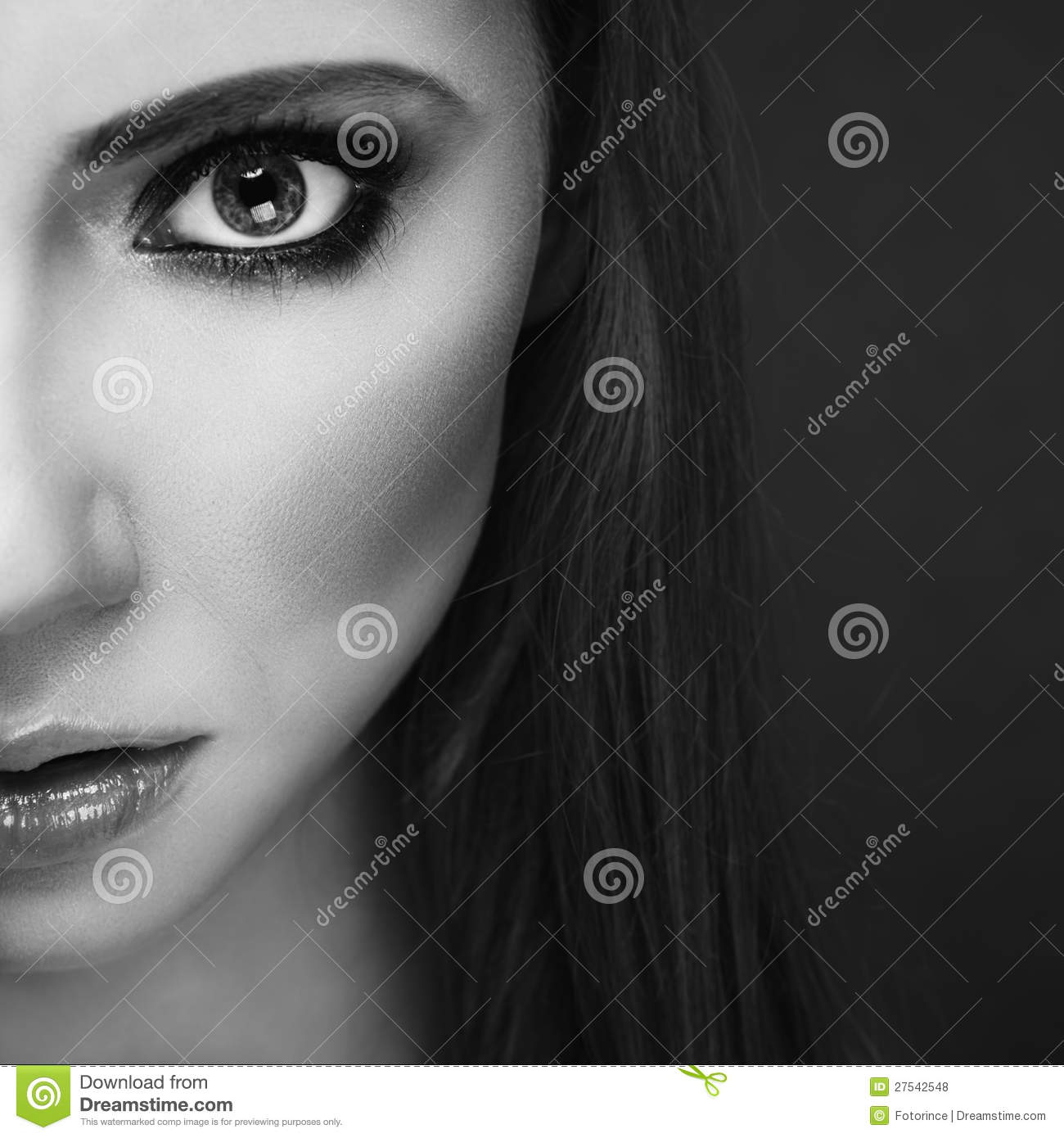 Half Face Portrait Stock Photo Image Of Eyebrow Skincare