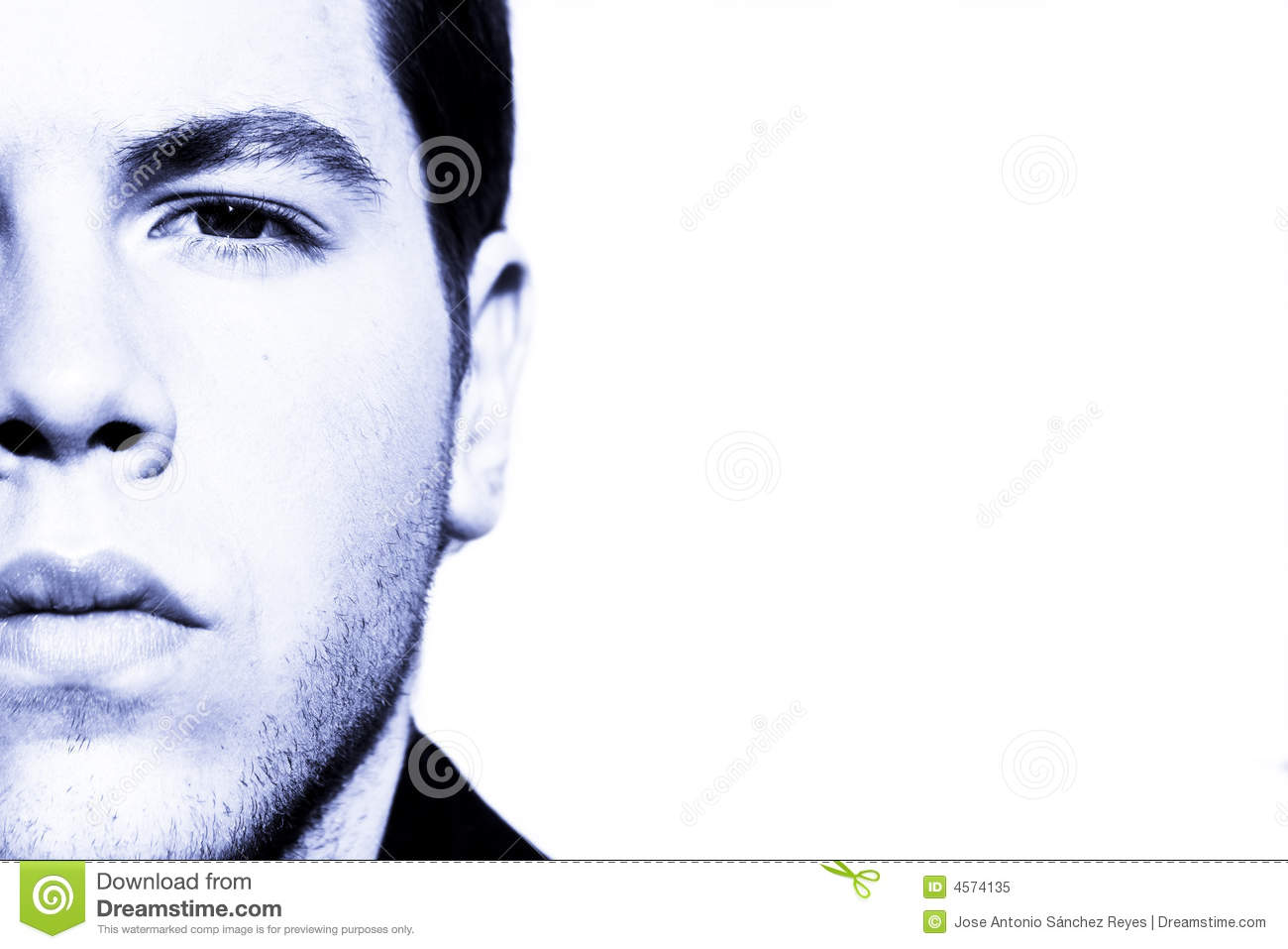 Half Face Portrait Royalty Free Stock Photo