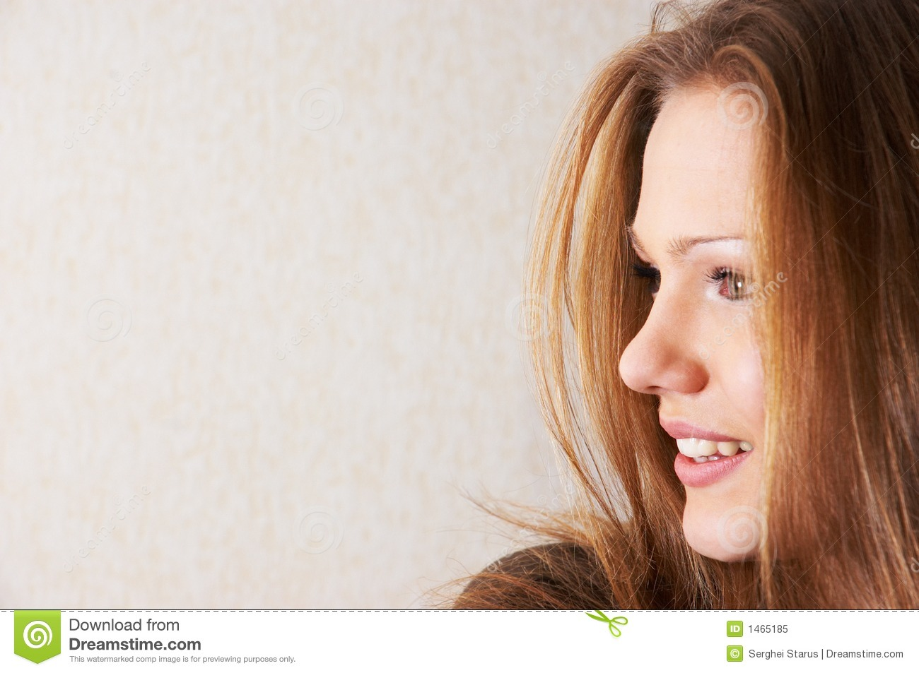 Half Face Portrait Of Beautiful Girl Royalty Free Stock