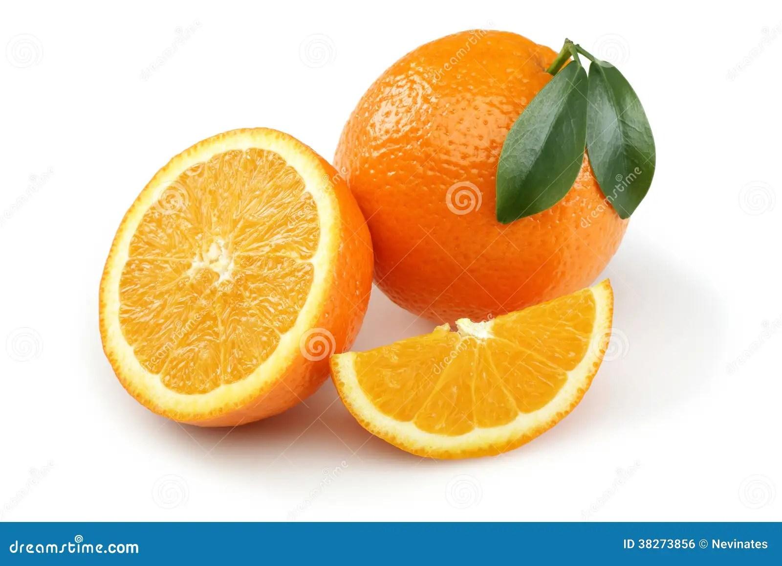 Half Orange And Orange Slice Royalty Free Stock Image
