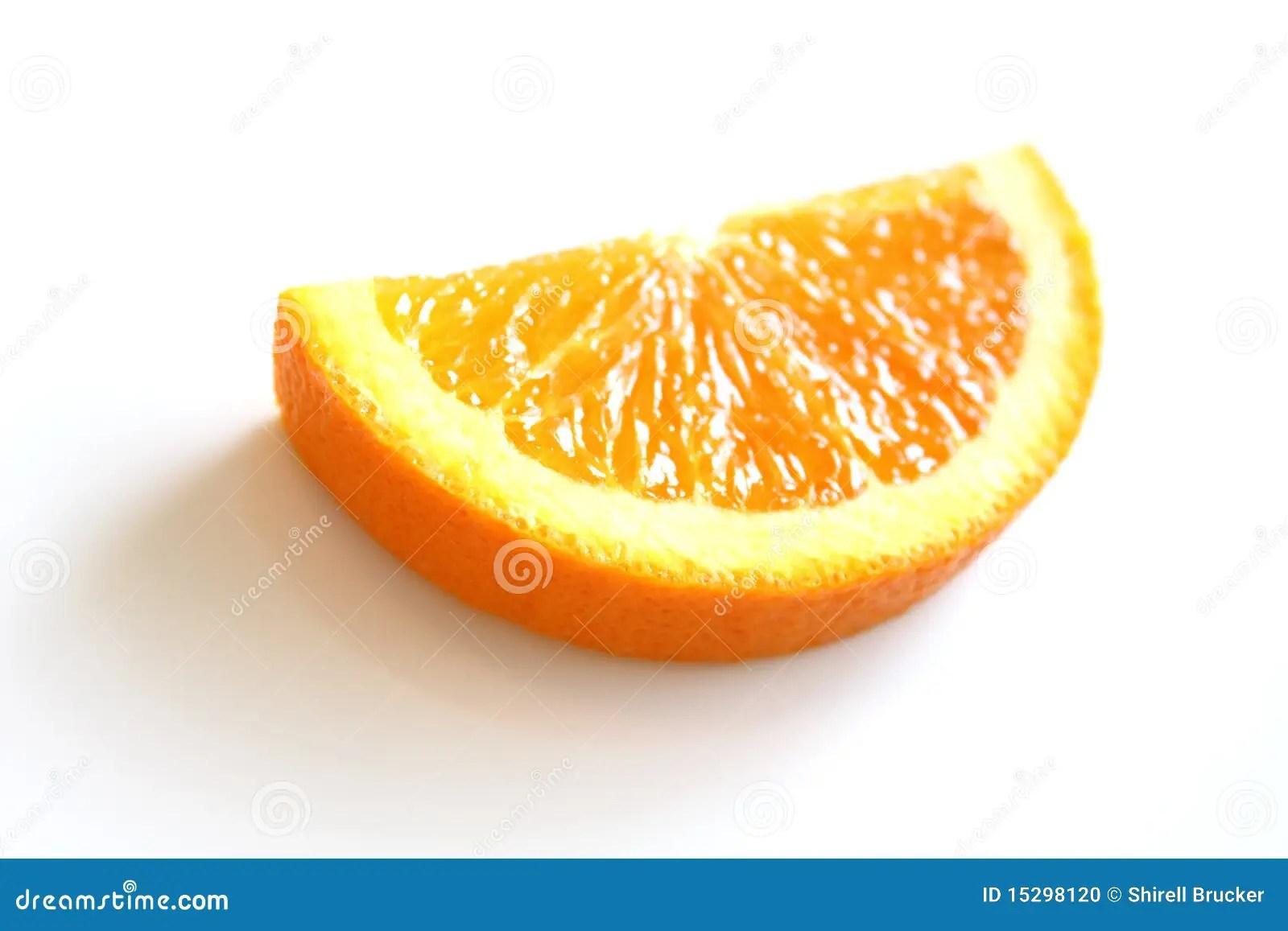 Half Slice Of An Orange Stock Photo