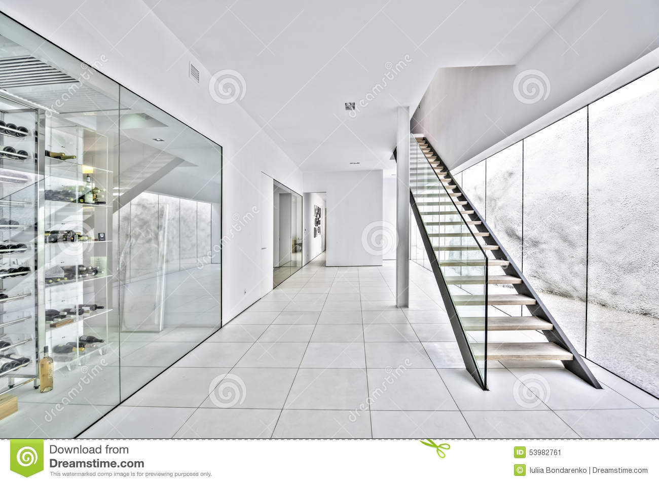 Decoration Villa Moderne Hall In The Modern Villa Stock Image Image Of Decoration 53982761