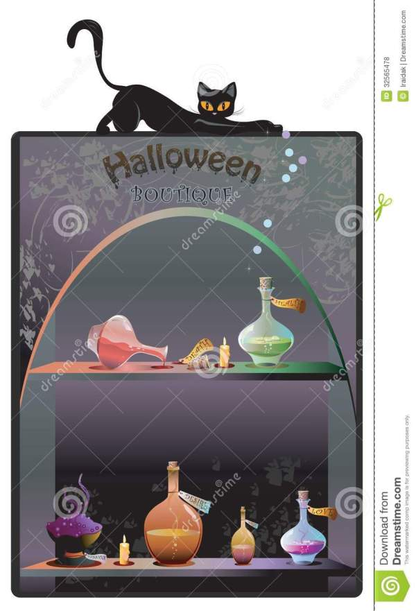 Halloween Boutique Background Royalty Free Stock