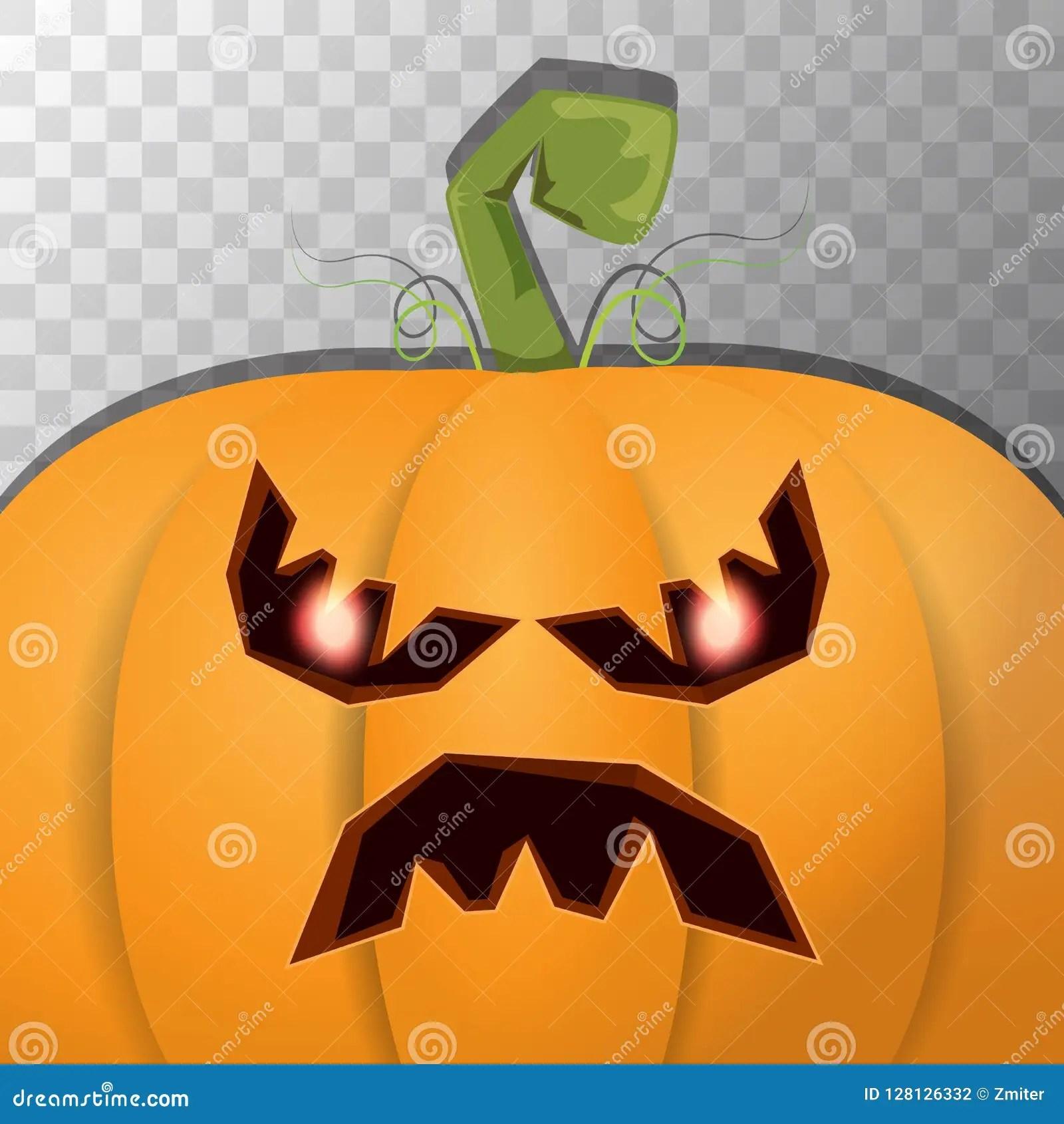 halloween cartoon pumpkin with