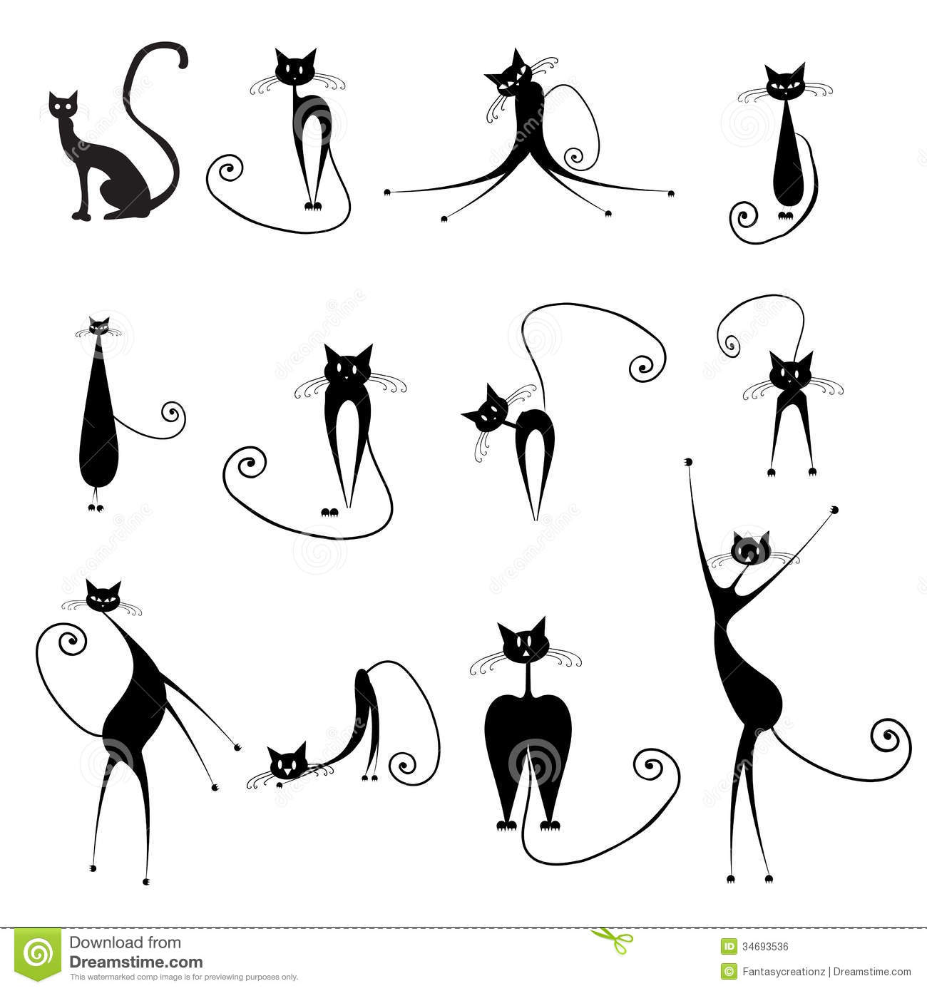 Halloween Cats Stock Vector Illustration Of Character
