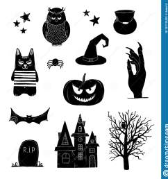 halloween clip art black and white pumpkin owl witch bat clipart [ 1558 x 1600 Pixel ]