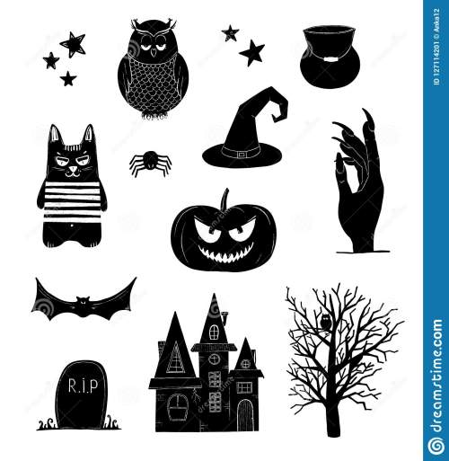 small resolution of halloween clip art black and white pumpkin owl witch bat clipart