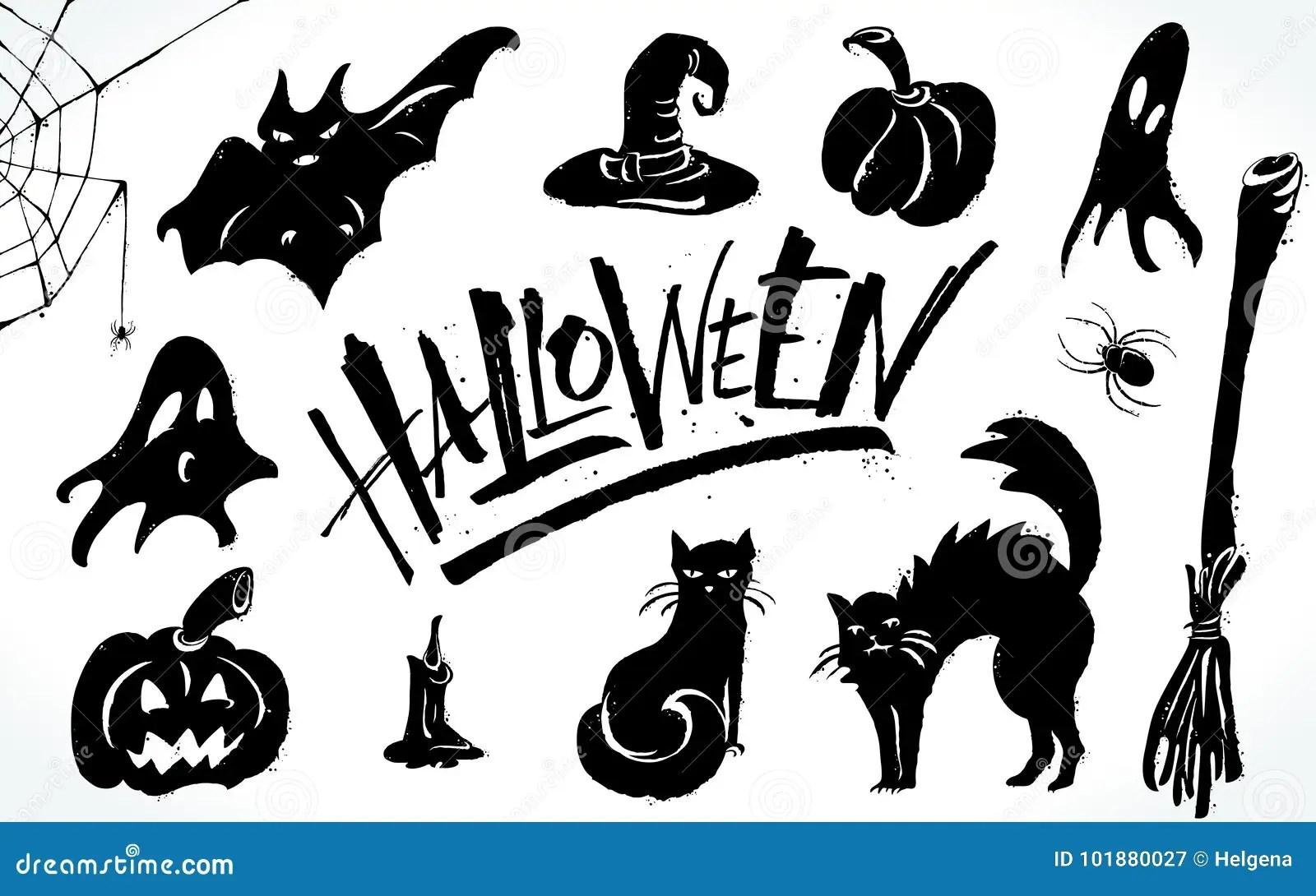 Halloween Clipart Set Stock Vector Illustration Of Grave