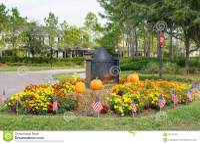 Halloween Decoration In A Garden Of A Community Village ...