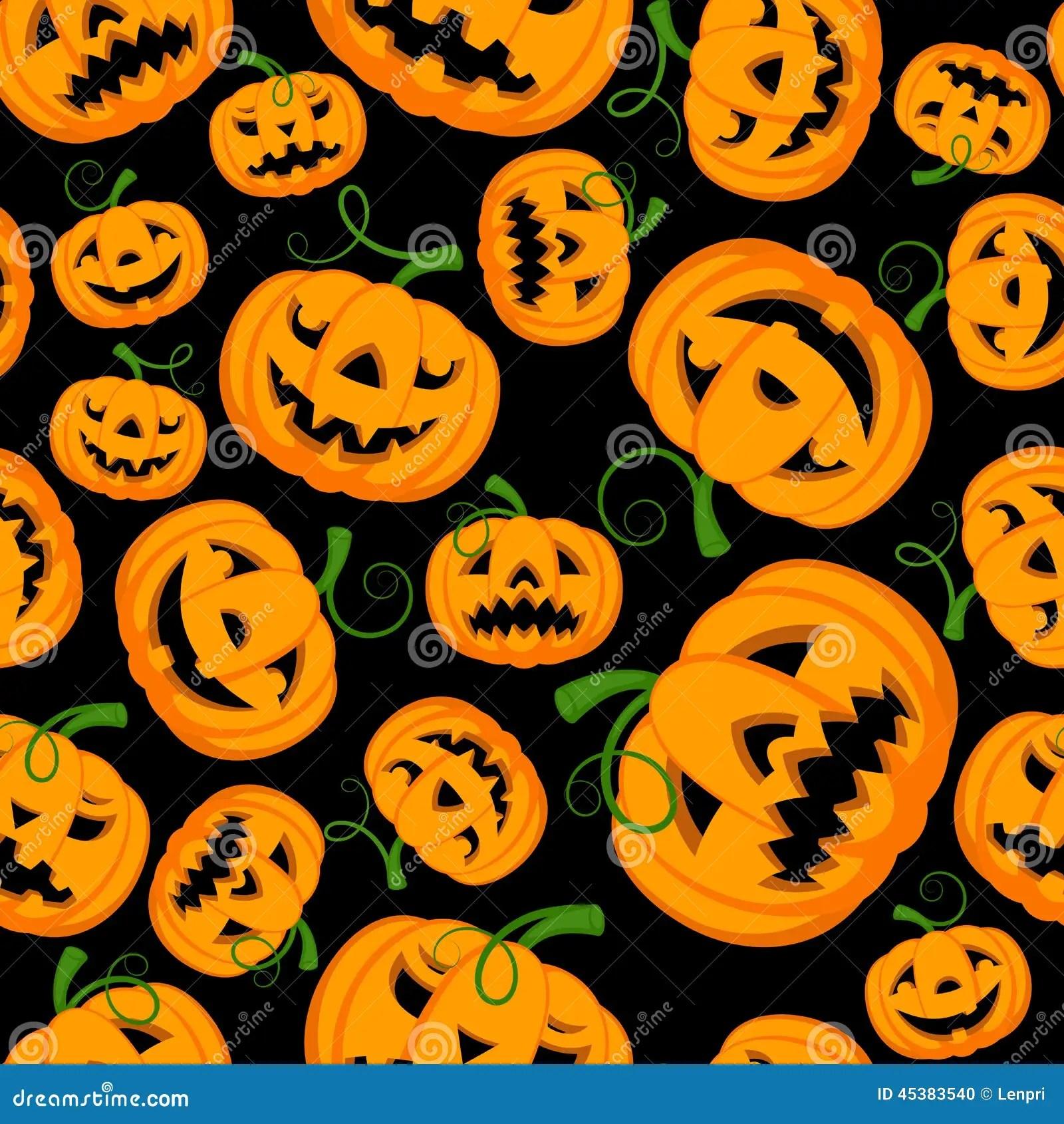 Fall Themed Wallpaper Desktop Halloween Digital Paper Stock Vector Illustration Of