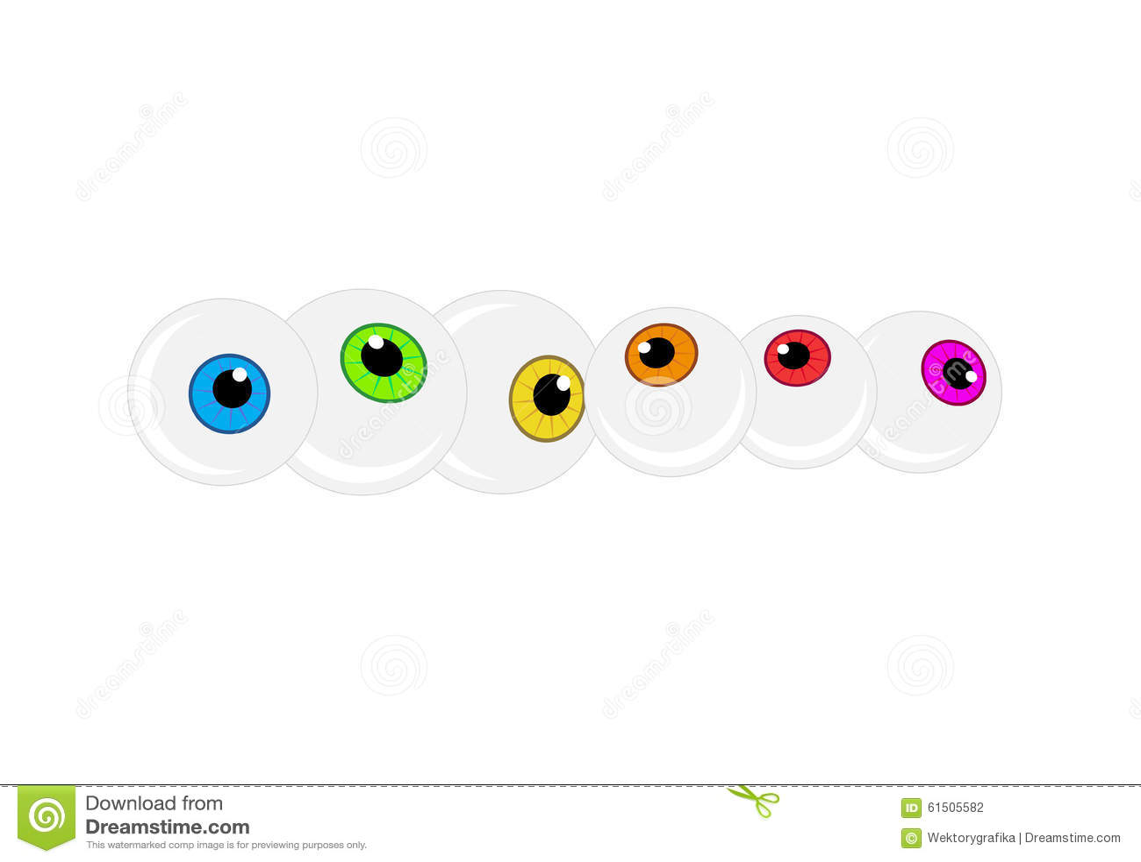 Halloween Eyeball Vector Background Colorful Cartoon