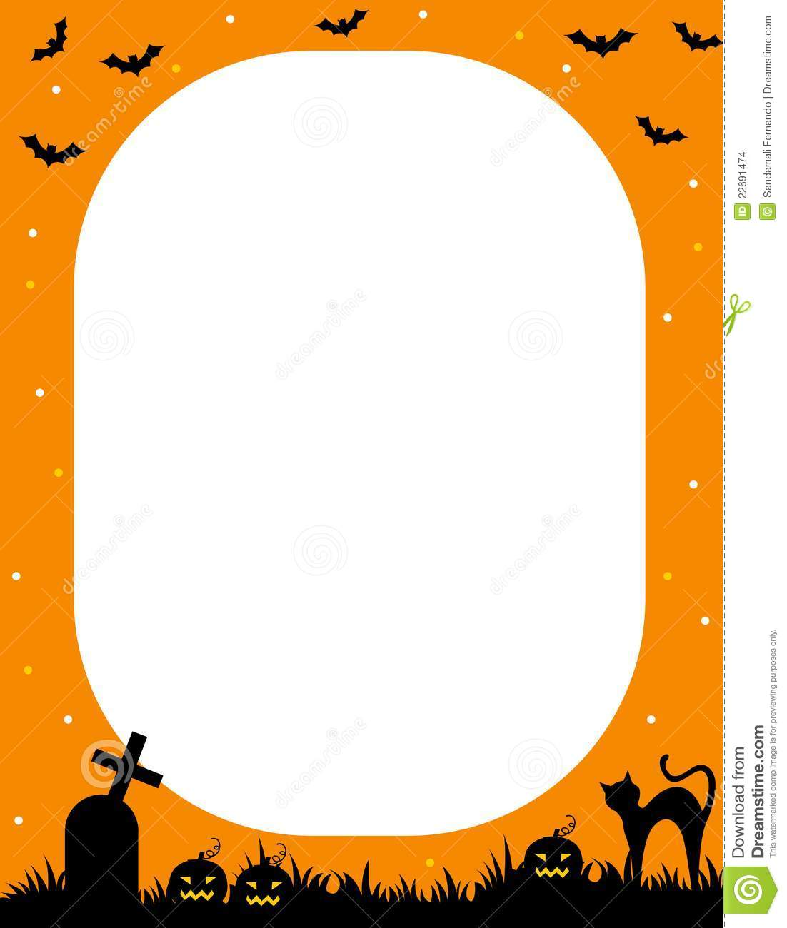 Fall Graveyard Cemetery Wallpaper Halloween Frame Stock Vector Image Of Design Autumn